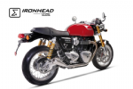 Thruxton 1200 R IXIL IRONHEAD Shorty Silencers, Brushed Stainless Steel.